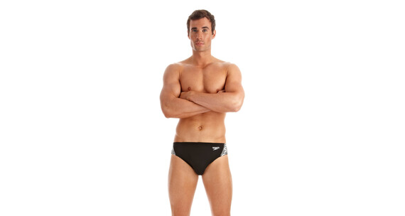 speedo Monogram Endurance+ 7cm Brief Men black/white